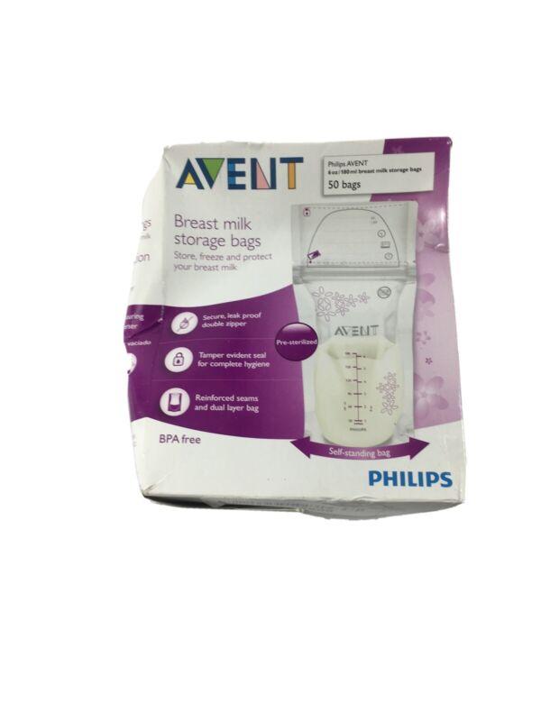 Philips Avent Breast Milk Storage Bags - 6 oz - 50 ct, New. M2C