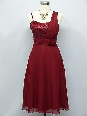 Cherlone Red Prom Ball Evening Wedding Bridesmaid Knee Length Dress Size 16-18