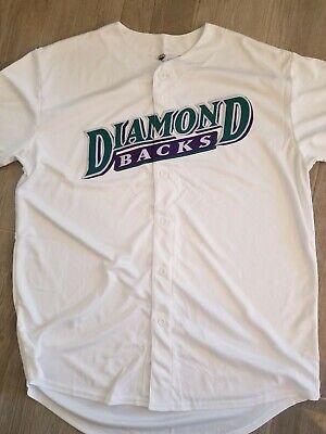 White Diamondbacks Jersey - Retro Purple Logo