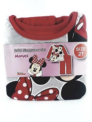 Disney Junior 2T Minnie Mouse 2 Piece Sleepwear Pajama Set New
