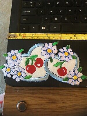 Vintage Patch - Hearts Cherries, flowers