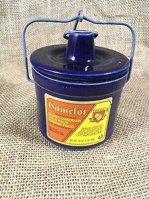Glazed Brown Stoneware Pottery or Butter Crock Harrington/'s Sharp Cheddar Crock 20oz Since 1873
