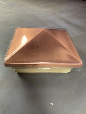 NEW!!! WeatherShield 4 x 4 Copper And Wood Post Cap 3.5 x 3.5 slip over - 3.5 Wood Posts
