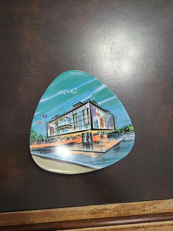 Expo 67 Montreal Canada Triangle Shaped Plate Ornamin by Ornamold