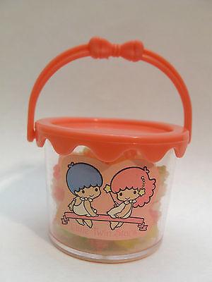 LITTLE TWIN STARS KONPEITO Plastic Box VINTAGE SANRIO Bucket Candy Jar KIKI LALA