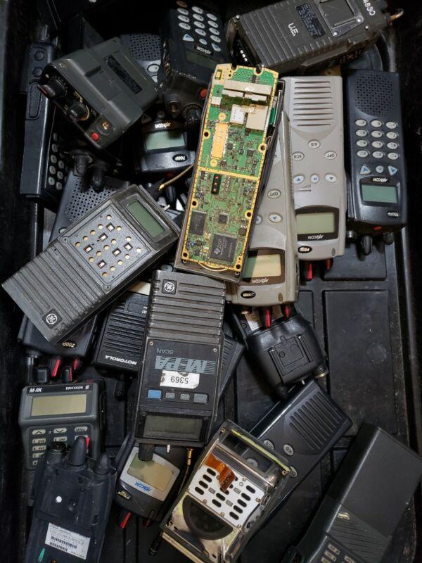 Set Of Six Harris Ge  Macom Portable Radios Mpa Mrk 7100 700p Jaguar Lpe Etc