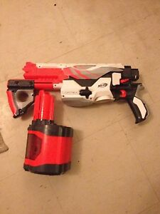 6 NERF guns with bullets and extras. Best gift for children.