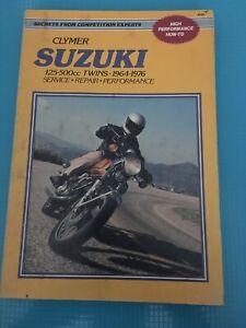 1964-1976-Clymer-SUZUKI-125-500cc-TWINS-Repair-Service-Manual-M366-Performance