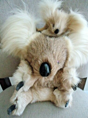 AUSTRALIA Australian KOALA BEAR  and Baby Real Kangaroo Fur Plush