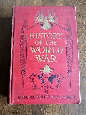 Antique Book History Of The World War 1919 Illustrated 1St Edition
