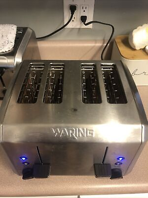 Waring 4 Slice Commercial Toaster Wt400 - Stainless Read