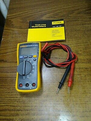 Fluke 115 True Rms Multimeter - Very Good Condition W Manual