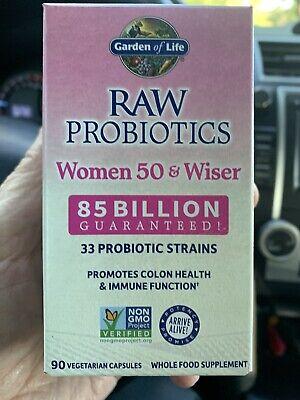 Garden of Life Raw Probiotics Women 50 & Wiser Sealed 90