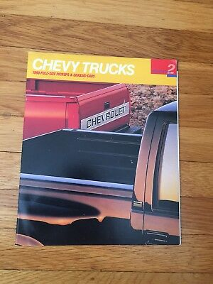 1990 CHEVY Full-Size Pickups and Chassis-Cab Brochure 44 Page Catalog VG Cond.