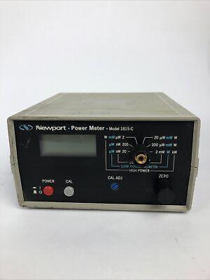 Newport 1815-c Optical Power Meter - Fast Free Shipping Via Fedex Ground