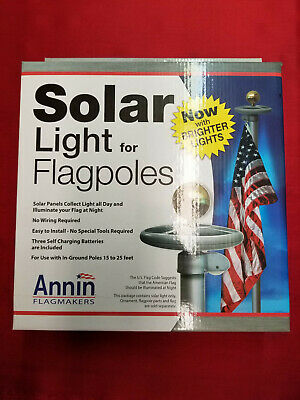 Solar Powered Flagpole Light - Flag Pole - LED Dusk to Dawn No Wiring Necessary