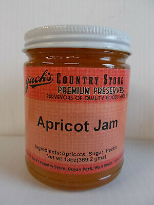 Jack's Country Store Preserves Apricot Jam 13 OZ, Small Batch, USA Grown Fruit