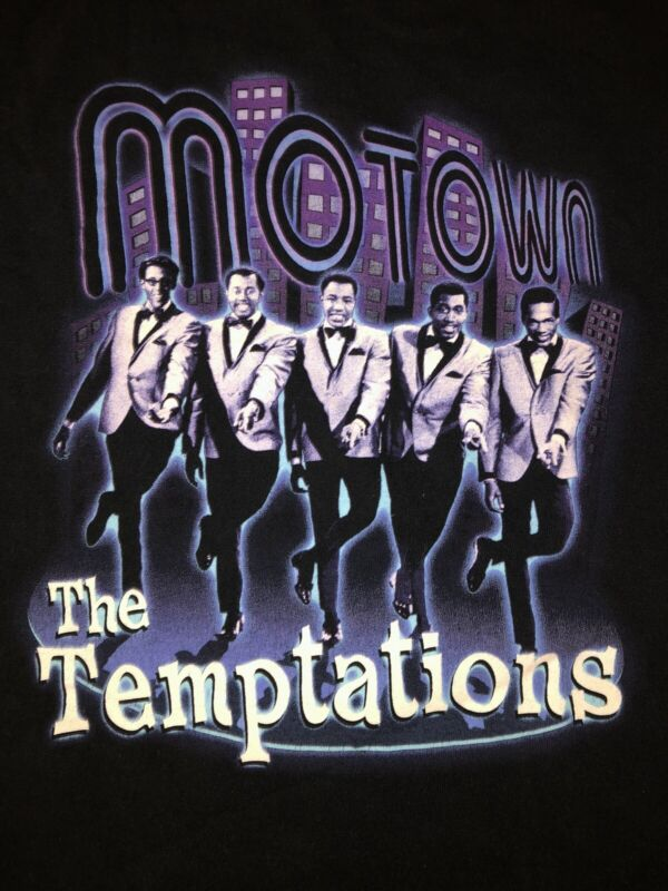 The Temptations Motown T Shirt Size XL Emperors Of Soul 60's-00's Oldies