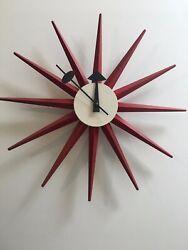 Mid Century Modern Nelson Sunburst Clock