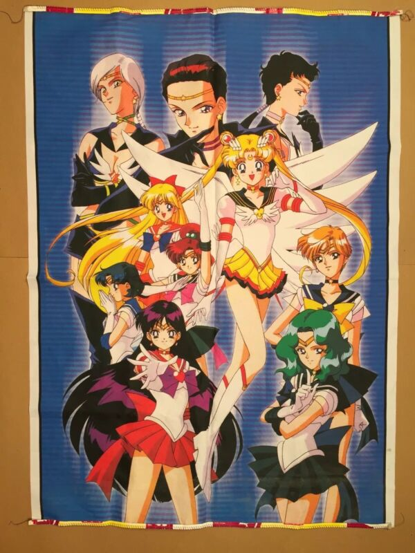 Sailor Moon Anime Wall Hanging Tapestry Store Display 30.5 x 42.5
