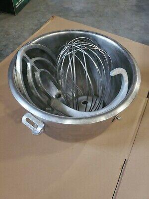 20 Qt Bowl Attachment Set Dough Hook Wire Whip Flat Beater For A200 Hobart Mixer