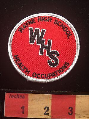 Vtg West Virginia Patch WSH Wayne High School Health Occupations 64C