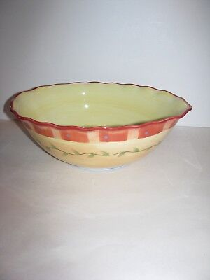 Pfaltzgraff, Napoli, Oval Vegetable Bowl, Serving Bowl, Hand Painted, Rim Chip