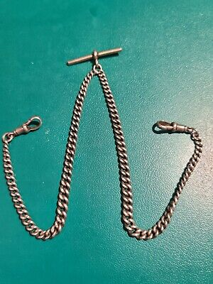 Victorian/Vintage Sterling Silver Pocket Watch Chain 24 grams..