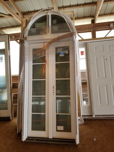 JELD WEN 48 INCH FRENCH DOOR CUSTOM! TRANSOM WINDOW, BEAUTIF