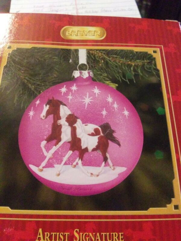 Breyer Horse Artist Signature Glass Ornament NIB Third In The Series