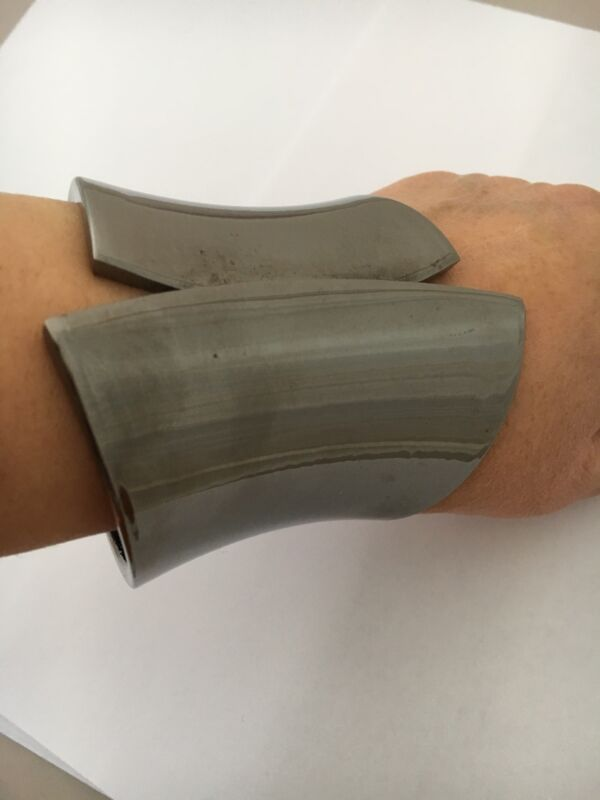 Big Cuff Bangle Material Brass Hand Crafted By Telesto Designs  (366)
