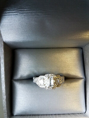 Antique Style Ring 3 diamond 1ct TotalWeight 14KWG for sale  Lampasas