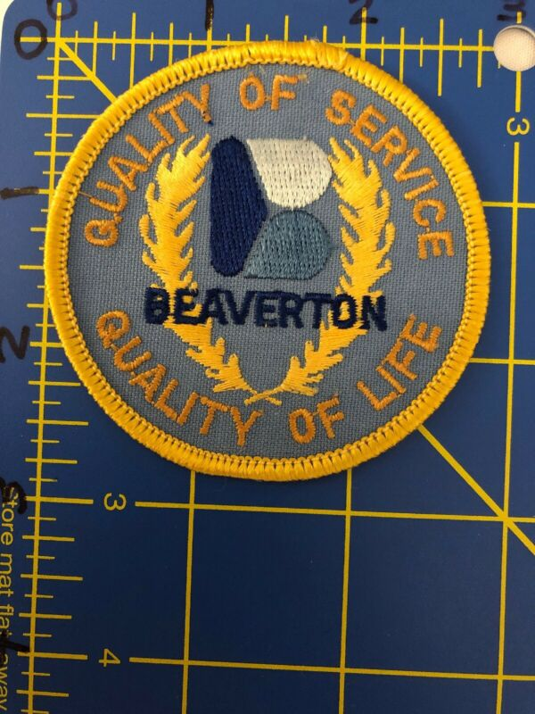 Vintage Beaverton Quality of Service Life B Logo Patch City Oregon OR Nike HQ US