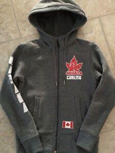 Kids asham curling hoodie size small