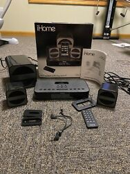 iHome iP51 Clock Radio & stereo system for iPod/iPhone 30 pin 2.1 speaker system