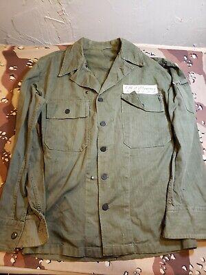 Korea War Era US Army HBT Shirt With Interesting Name Tag