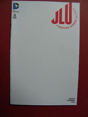 Justice League United #12 Blank Variant Cover (9.4 Or Better) DC Comics (Best Justice League Comics)