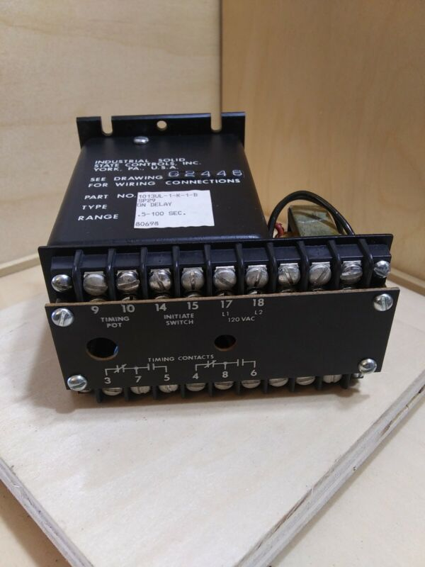 ISSC 1013UL-1-K-1-B On Delay Relay