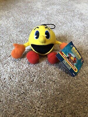 """PAC-MAN AND THE GHOSTLY ADVENTURES PAC & PALS MINI PLUSH 4""""!!!"""