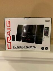 New Craig CD Shelf System AM/FM Stereo Radio w/ Dual Alarm Clock
