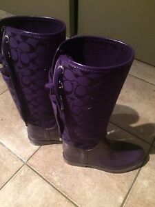 Purple Coach Rain Boots