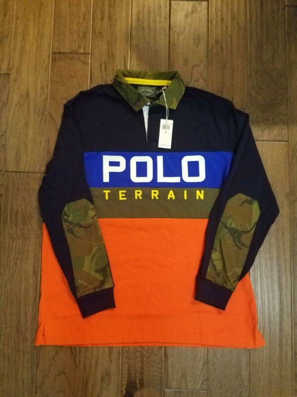Polo Ralph Lauren Men's Navy Multi Sportsman Classic Long Sleeve Polo Shirt XL