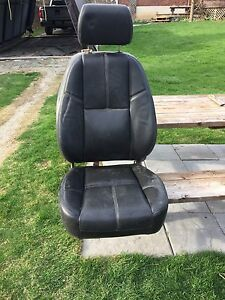 Leather bucket seats