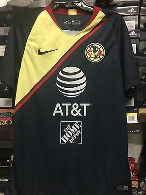 9f672ffaa49 Nike Club America Away Jersey 2018-19 Navy Blue Size Small