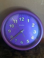Westclox Round 8 Hanging Wall Clock Purple Battery Operated