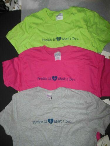 Praise 100% preshrunk Cotton T shirt 3 colors Ch Ad Plus Sizes Dance over 30