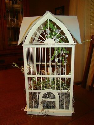 Bird Cage House Vintage Distressed Antique Iron Square Home Decoration wedding