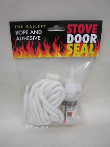 New the gallery fire log burner stove rope door seal kit for 14mm stove door rope