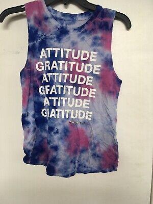 Spiritual Gangster Women Blue Pink & Purple Tie Dye Attitude Gratitude Tank top Women Tie Dye