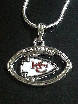 City Necklaces (Kansas City Chiefs Necklace Pendant Sterling Silver Chain NFL)